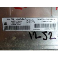 Peugeot 206 Motor Beyni SW9667112180 / SW 9667112180 / HW9655883280 / HW 9655883280 / Valeo J34P AAE