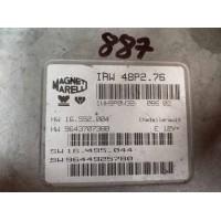 Peugeot 206 1.1 Motor Beyni HW 16.552.004 / HW 9643707380 / SW 16.495.044 / SW 9644925780 Magnetti Marelli IAW 48P2.76