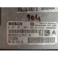 Peugeot 307 1.6 Motor Beyni HDI Dizel 9656161980 / 96 561 619 80 / Bosch 0281011803 / 0 281 011 803
